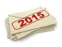 信件2015年(包括的裁减路线) 免版税图库摄影