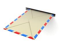 信件(包括的裁减路线) 库存照片