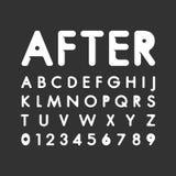 信件和数字现代向量字体 免版税图库摄影