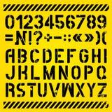 信件和数字被绘的钢板蜡纸 图库摄影