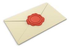 信件和蜡邮票(包括的裁减路线) 免版税库存图片