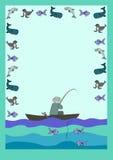 信件形式鱼和渔夫 库存照片