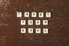 信任您的灵魂 库存照片