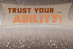 信任您的能力词 免版税库存图片