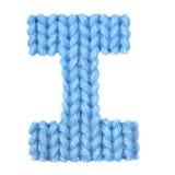 信件我英语字母表,上色蓝色 库存照片