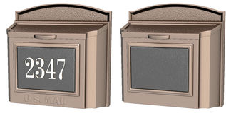 信件或邮件箱子 图库摄影