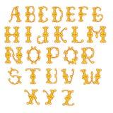 信件是黄色和红色的 皇族释放例证