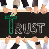 信任概念 库存图片