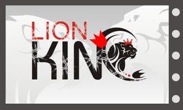 有冠的狮子标志国王,传染媒介狮子 免版税库存照片