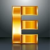 信件金属金丝带- E 免版税图库摄影