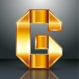 信件金属金丝带- G 免版税图库摄影