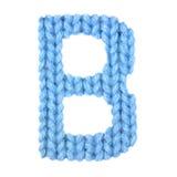 信件B英语字母表,上色蓝色 免版税库存照片