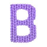 信件B英语字母表,上色紫色 库存照片