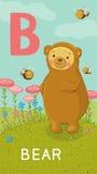 信件B,动物ABC 免版税库存图片