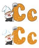 信件C厨师 库存照片