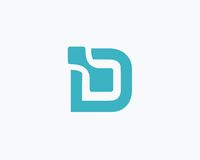 信件D商标数据设计 库存照片