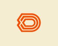信件D商标设计摘要 免版税库存图片