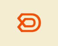 信件D商标设计 免版税库存图片