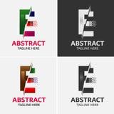 信件E商标象设计模板元素 免版税库存照片