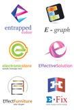 信件E商标 库存照片