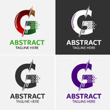 信件G商标象设计模板元素 向量例证