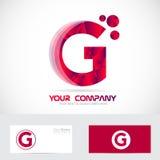 信件G红色商标 库存照片