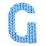 信件G英语字母表,上色蓝色 库存图片