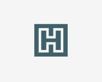 信件H商标象设计模板元素 免版税库存照片