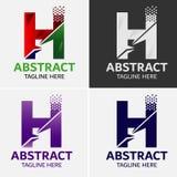 信件H商标象设计模板元素 库存照片