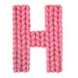 信件H英语字母表,上色红色 库存照片
