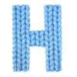 信件H英语字母表,上色蓝色 免版税库存照片