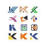 信件k传染媒介商标汇集 免版税库存照片