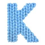 信件K英语字母表,上色蓝色 免版税图库摄影