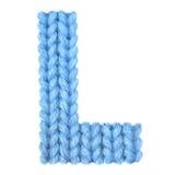 信件L英语字母表,上色蓝色 免版税图库摄影