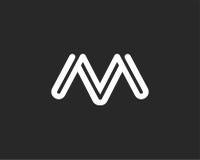 信件M象字母表标志 信件M商标象设计标志 库存照片