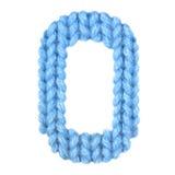 信件O英语字母表,上色蓝色 库存照片