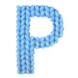 信件P英语字母表,上色蓝色 免版税库存照片