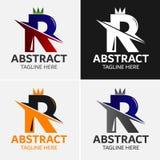 信件R商标模板 库存例证