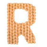 信件R英语字母表,上色桔子 免版税库存照片