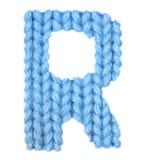 信件R英语字母表,上色蓝色 免版税库存照片