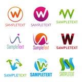 信件W概念性商标 库存图片