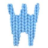 信件W英语字母表,上色蓝色 库存照片