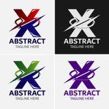 信件x商标象设计模板元素 向量例证