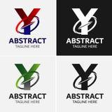 信件Y商标象设计模板元素 库存例证