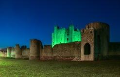 修剪城堡在晚上 县Meath 爱尔兰 免版税库存图片
