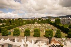 修剪的花园在Tulcan厄瓜多尔公墓 库存照片