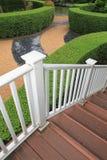 修剪的花园庭院 免版税库存照片