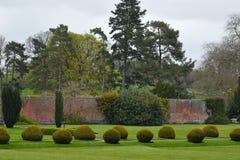 修剪的花园, Berrington霍尔, Herefordshire,英国 库存照片