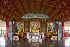 修士和中国主要雕象 免版税库存图片