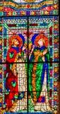 修士圣徒彩色玻璃中央寺院大教堂佛罗伦萨意大利 库存图片